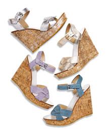 Black Sandal Wedges Shoes
