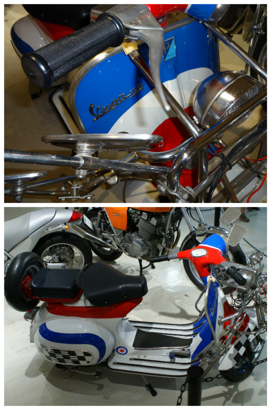 UK Vespa Collage