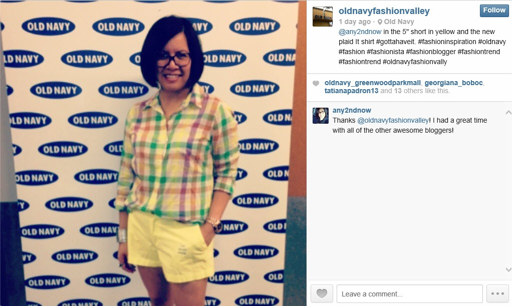 Old Navy Fashion Valley Instagram Picture (2)
