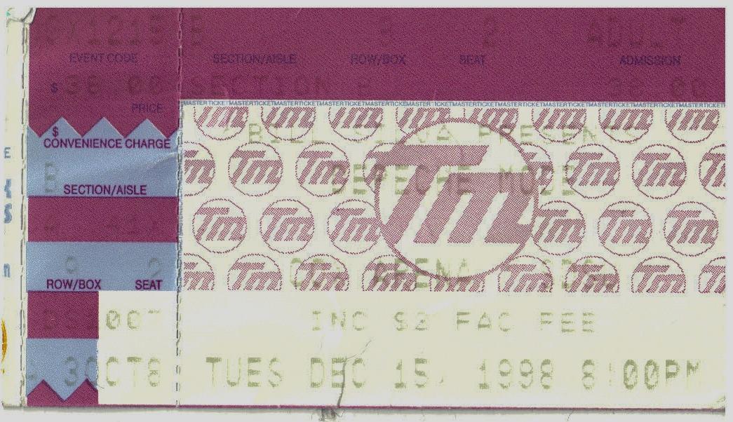 The Singles Tour Concert Ticket 1998
