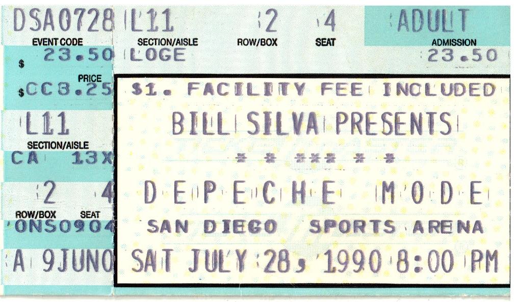 World Violation Tour Concert Ticket 1990
