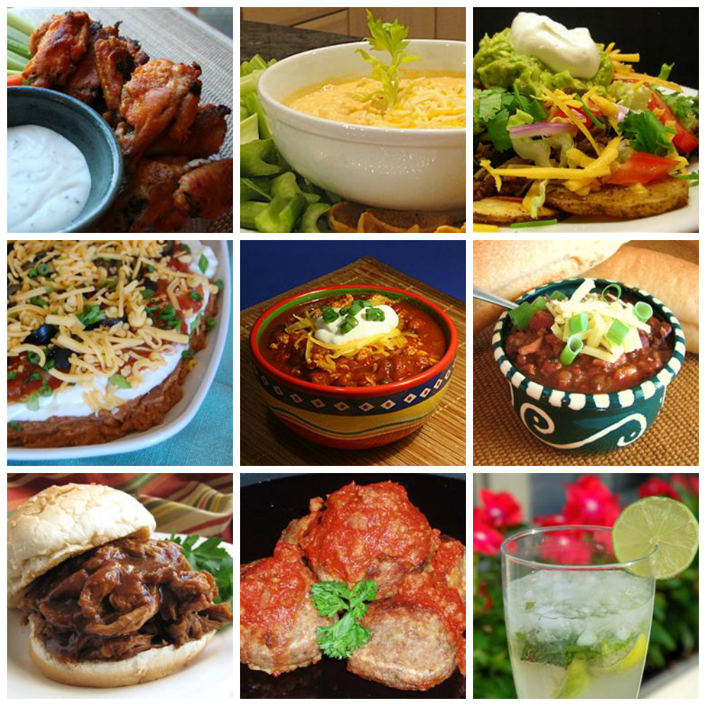 Game Day Food Collage