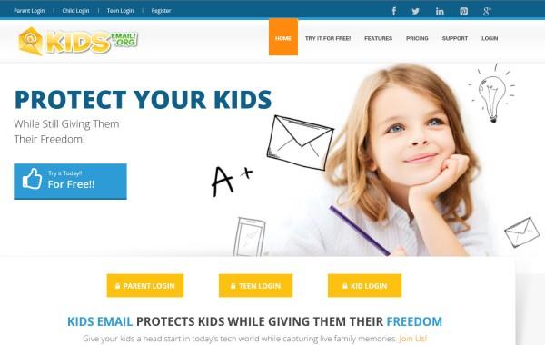 KidsEmail Splash Page