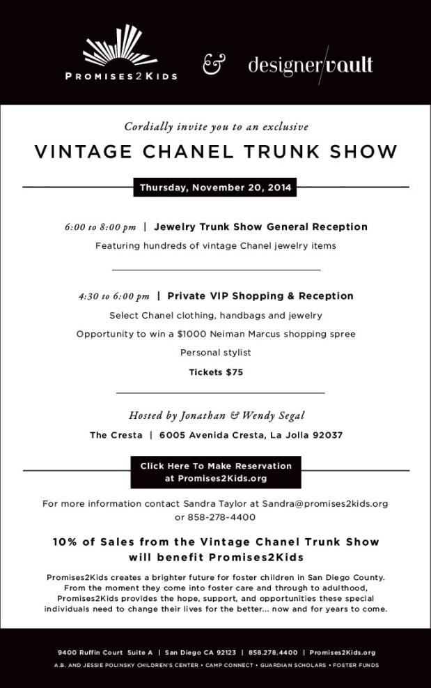 Designer Vault Vintage Chanel Trunk Show 2014